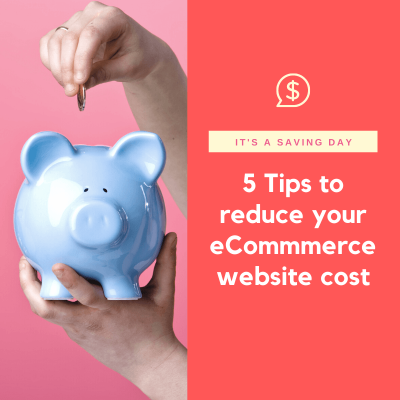 5 tips to reduce your eCommerce website cost