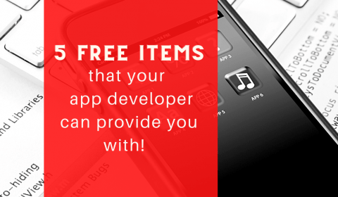 5 Free things that your mobile app developer can provide you with